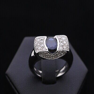 AU1455.86 • Buy Ring Chateau Gold 18KT Bright 0.72 CT Natural Doesn'T Treated Sapphire 1.5 CT