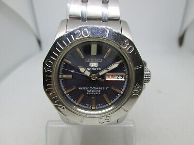 $ CDN12.54 • Buy Seiko 5sports 7s36-02y0 100m Stainless Steel Steel Automatic Mens Diver Watch