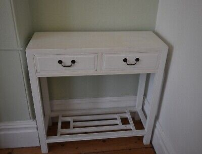 White Upcycled Console Table With Drawers • 12£