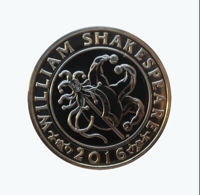 2016 Shakespeare 2 Pound Coin Jester • 4£