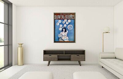 £16.95 • Buy I'm Forever Blowing Bubbles- Home Wall Print- Vintage Retro Poster-A4-A1