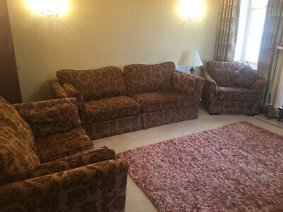 G Plan 3 Piece Suite 3/4 Seater Sofa 2 Seater Sofa + Armchair In Good Condition • 100£