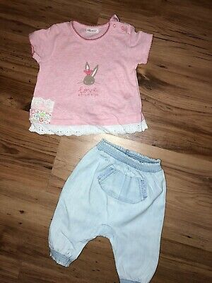 Baby Girls Next Outfit 3-6 Months Easter / Bunny Rabbit • 1.99£