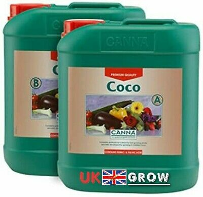 £40.99 • Buy Canna Coco A+B 5 Litre Veg And Flower Plant Food Base Nutrients Hydroponics