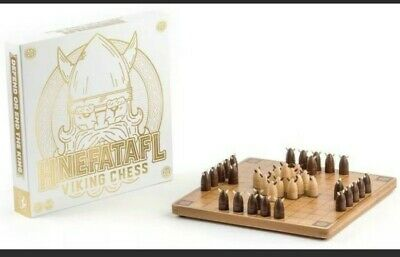 AU73.68 • Buy HNEFATAFL VIKING CHESS Wooden Game Board By Marbles