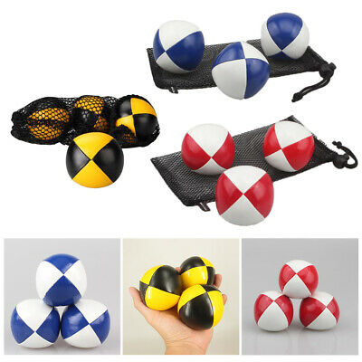 AU19.06 • Buy 3pcs Professional Juggling Ball Toss Ball Juggle Circus Toy With Storage Bag