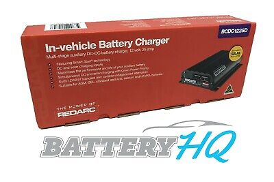 AU499 • Buy REDARC BCDC1225D DC To DC Dual Battery Vehicle Charger 12V 25A W/Solar Brand New