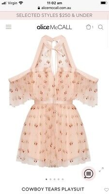 AU120 • Buy BNWT Alice Mccall Cowboys Tears  Playsuit Size 4 In Tea Rose