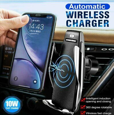 AU9.99 • Buy Car Holder Qi Wireless Fast Charger Gravity Mount For IPhone X XS Max S9+ Note 9