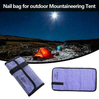 AU10.39 • Buy Heavy Duty Tent Nail And Hammer Storage Bag Stakes Holder Pegs Sale Pouch L3S4
