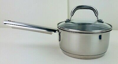 $ CDN31.25 • Buy Leyse  Commercial 18/10 Stainless Steel Sauce Pan 6 Inch With Glass Lid 1 Quart