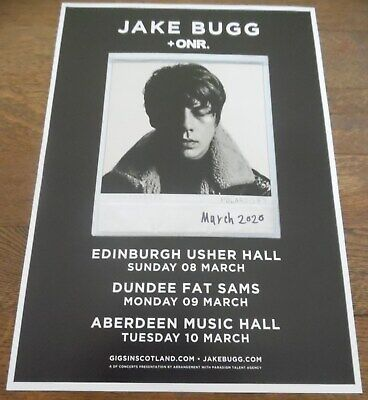 £4.95 • Buy Jake Bugg - Live Music Show March 2020 Promotional Tour Concert Gig Poster