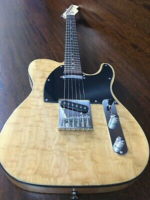 AU205 • Buy Haze Solid Body Electric Guitar,SS Pickup,Natural Quilted Top.HSTL 19100BNA Thru