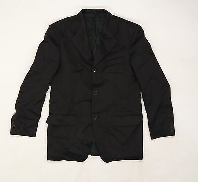 £10 • Buy Horne Brothers Mens Black Striped Rayon Jacket Suit Jacket Size 38