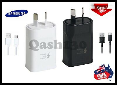 AU16.95 • Buy Genuine Samsung Galaxy Fast AC Wall Charger USB C Type-C S9/S8/S10/Note 8/9/10