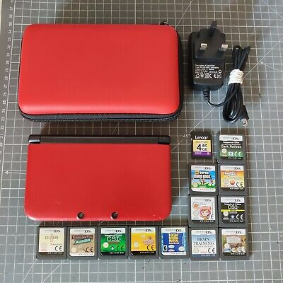 AU94.27 • Buy Red Nintendo 3DS XL Console With 12 Games, Case And Charger