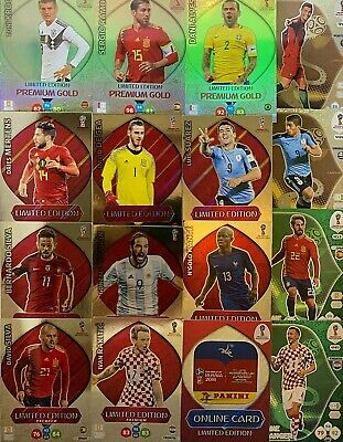 £1.59 • Buy RUSSIA WORLD CUP 2018 Panini Adrenalyn XL Premium Gold LIMITED EDITION CARDS