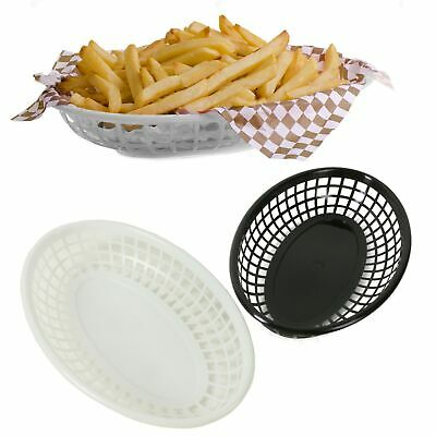 £6.29 • Buy 8x BBQ SERVING TRAYS Chip Fries Basket Bowl Dish Easy Clean Outdoor Picnic Food