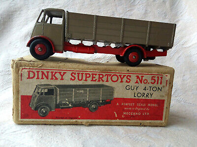 £195 • Buy Dinky Supertoys 511 Guy 4 Ton Lorry Fawn Cab And Rear Body, Red Chassis.