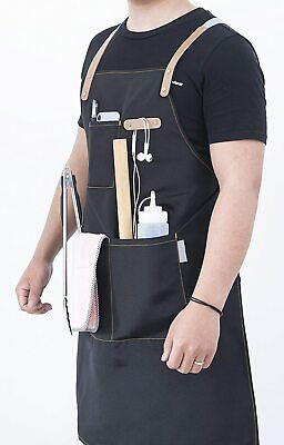 $14.01 • Buy Cooking Apron Chef Aprons For Kitchen BBQ Grill For Men And Women Navy Blue