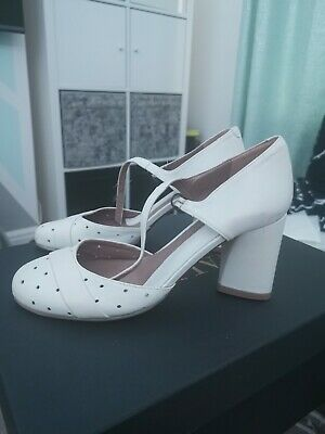 Audley Shoes White Real Leather Size 37.5/ UK 4.5 BRAND NEW NO BOX • 12.99£