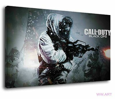 £38.99 • Buy Call Of Duty Black Ops Alex Mason With Gun Canvas Wall Art Picture Print