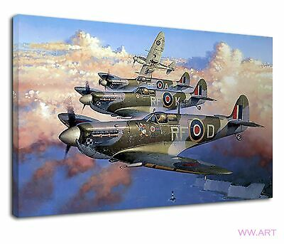 £34.99 • Buy Supermarine Spitfire British Military Raf Painting Canvas Wall Art Picture Print