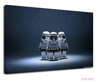 £34.99 • Buy Lego Stormtrooper Of Star Wars For Kids Bedroom Canvas Wall Art Picture Print