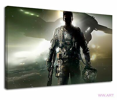 £34.99 • Buy Call Of Duty Cod Infinite Warfare Soldier Battle Canvas Wall Art Picture Print
