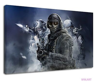 £38.99 • Buy Call Of Duty Soldiers Shadow Playstation Ps5 Game Canvas Wall Art Picture Print