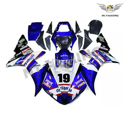 $489.99 • Buy WOO Fit For Yamaha R1 YZF 2002-2003 Blue Injection ABS Fairing Plastics Kit E043