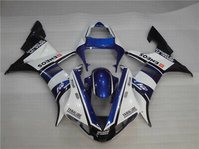 $489.99 • Buy WOO Fit For Yamaha R1 YZF 2002-2003 White Blue Injection ABS Fairing Kit E018