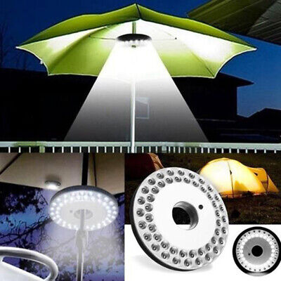 AU13.07 • Buy Outdoor 48 LED Umbrella Lamp Night Light Pole Patio Yard Garden Camping Ligh WH