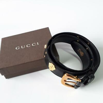 AU235.73 • Buy Gucci Vintage Belt Leather Black Women's Fashion Accessories