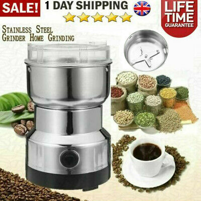 £10.28 • Buy Stainless Electric Coffee Grinder Grinding Milling Bean Nut Spice Matte Blende