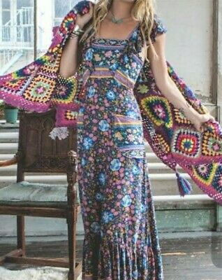AU650 • Buy Spell & The Gypsy Folktown Frill Maxi Dress Rare XL 💙 Immaculate Condition🦄