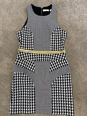 AU70 • Buy Sass And Bide Sleeveless Houndstooth Dress With Gold Bling Size 12