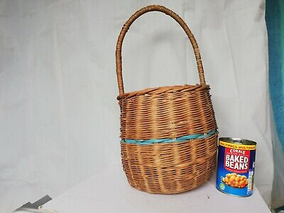 £48 • Buy Vintage Wicker Egg Basket Gathering Shopping Country Style Garden Shop Display