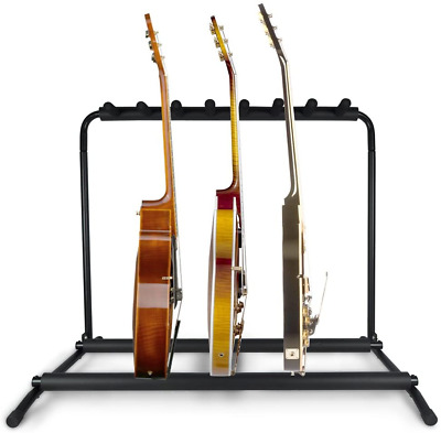 AU70.17 • Buy Pyle Multi Guitar Stand 7 Holder Foldable Universal Display Rack - Portable With