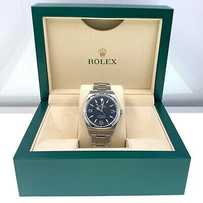 $ CDN10883.51 • Buy Rolex Explorer 214270 Black Dial 39mm Stainless Steel With Box