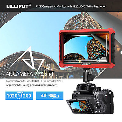 AU246.99 • Buy Lilliput A7S 4K Input Camera Monitor 7inch FHD IPS Screen HDMI For Sony Video