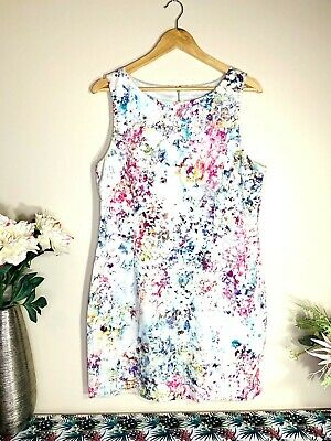 AU36.95 • Buy FOREVER NEW Bright Floral Size 16 Fit & Flared Sleeveless Lined Midi Dress