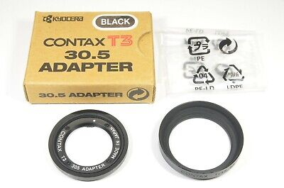 $ CDN375.01 • Buy CONTAX T3 30.5 Adapter And CONTAX TVSII METAL HOOD Black #a1481