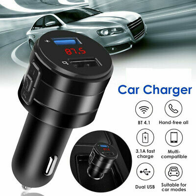 £5.99 • Buy Bluetooth Wireless Handsfree Car FM Transmitter MP3 Player 2 USB Charger Kit