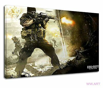 £34.99 • Buy Call Of Duty Black Ops Warriors With Guns Canvas Wall Art Picture Print