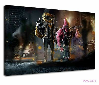 £34.99 • Buy Gangster Spongebob And Patric Digital Illustration Canvas Wall Art Picture Print