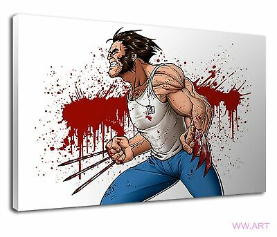 Wolverine Marvel Comic Book Hero Character X Men Canvas Wall Art Picture Print • 34.99£
