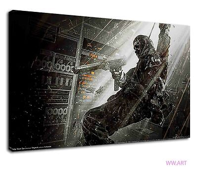£34.99 • Buy Paratrooper Holding A Gun Call Of Duty Black Ops Canvas Wall Art Picture Print