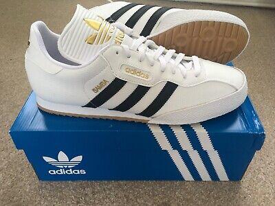 $ CDN153.63 • Buy Adidas Originals Samba Super Trainers - Size UK 9 - White/Black/Gold - BNIB