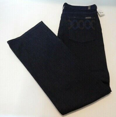AU19.38 • Buy NEW 7 For All Mankind Womens 31 Dark Blue Jeans Denmark Bootcut Pants NWT